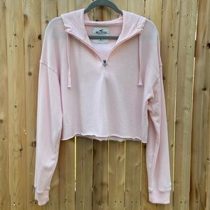 Hollister Hooded Cropped 1/4 Zip Top
